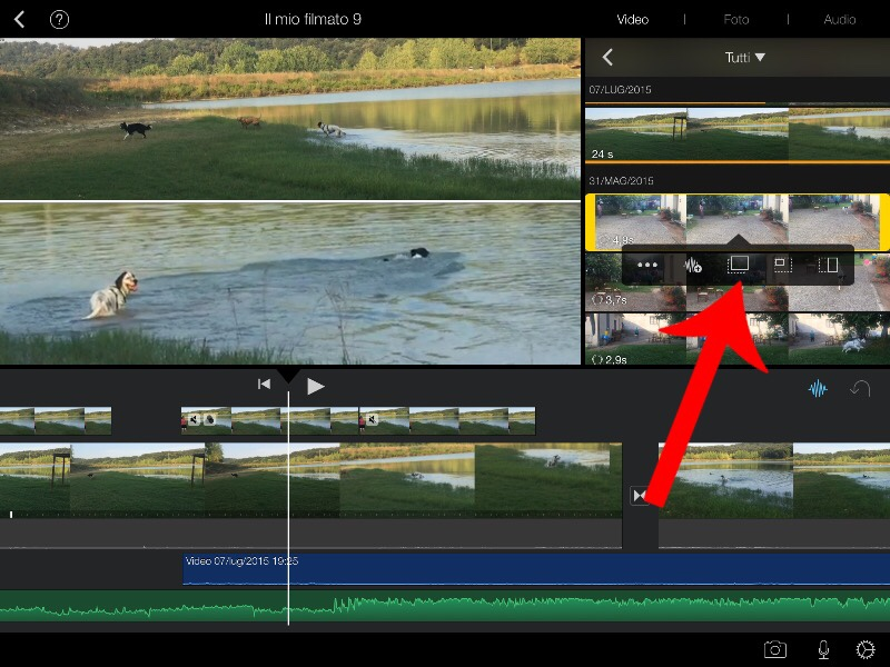 how to create split screen videos in imovie