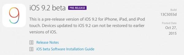 Apple iOS 9.2: download e novità della Beta 1