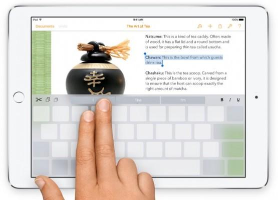 iOS 9: come usare il trackpad della tastiera virtuale
