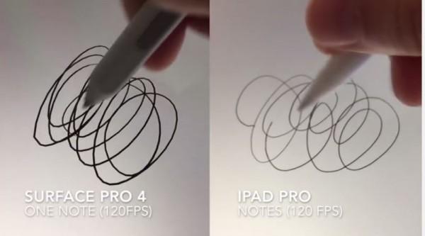 Apple Pencil dell'iPad Pro a confronto con il Microsoft Surface Pro 4