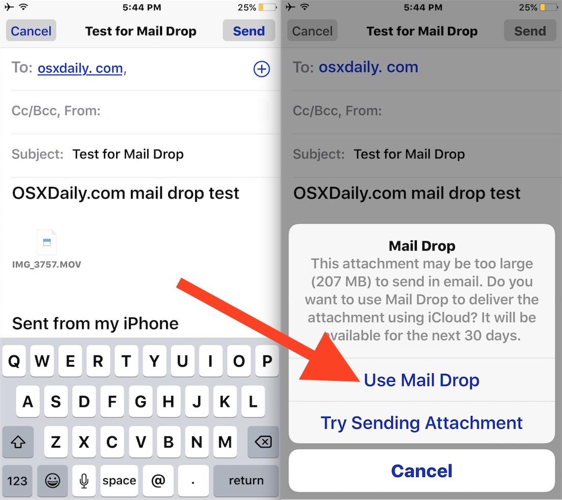 Come inviare via mail da iPad file più grandi di 20 MB