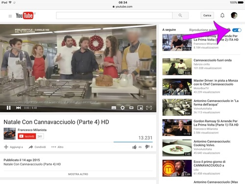 Come disattivare l'autoplay al termine di un video YouTube