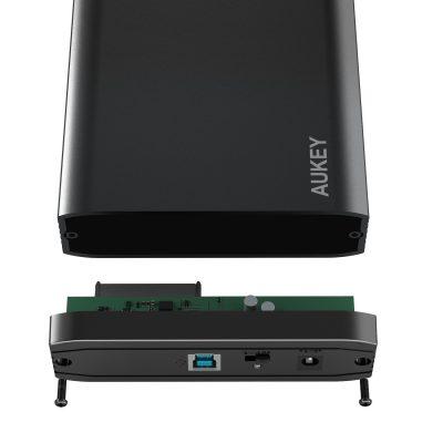Con questo Case esterno per disco rigido Aukey trasformi qualunque Hard Disk in un supporto USB esterno!