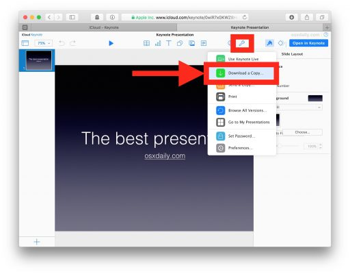 Come convertire un documento Pages, Numbers e Keynote in un documento Office con iCloud