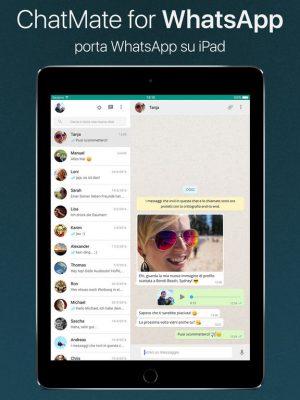 Whatsapp su iPad: ChatMate for Whatsapp è l'app migliore per averlo!