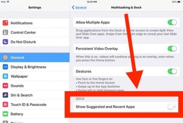 Come eliminare dalla dock di iPad le app recenti