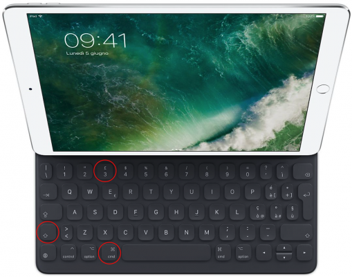 Le scorciatoie da tastiera per iPad con iOS 11